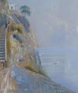 13 - Strada costiera ad Ischia, 1920, 19x38
