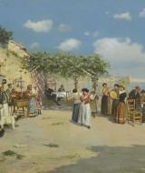 23 - tarantella a Posillipo, 1898, 60x80